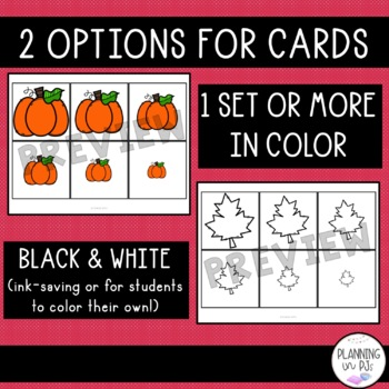 Fall Size Ordering (From Smallest to Largest) Apples Leaves Pumpkins Acorns