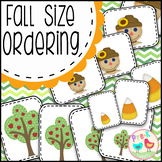 Fall Size Sorting Cards