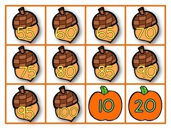 Fall Skip Counting 2's 5's & 10's