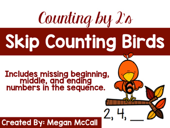 Fall Skip Counting Birds (Counting by 2's)