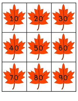 Fall Skip Counting Cards: Counting by 2s, 5s, and 10s FREEBIE