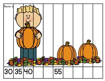 Fall Skip Counting Puzzles