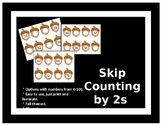 Fall Skip Counting by 2s Task Cards