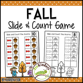 Fall Slide & Count   One to One Correspondence for Pre-K + K