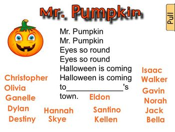 Fall Smartboard file: Pumpkins, Bats and Ghosts
