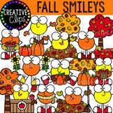 Fall Smileys {Fall Clipart}
