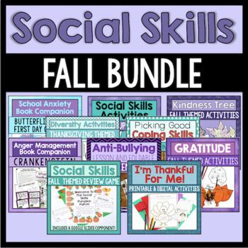 Fall Social Skills Bundle (Save 20%)