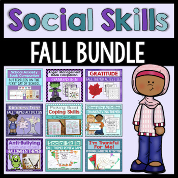 Social Skills Activities Bundle - Fall Themed