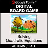 Fall: Solving Quadratic Equations - Digital Board Game   G