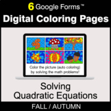 Fall: Solving Quadratic Equations - Digital Coloring Pages