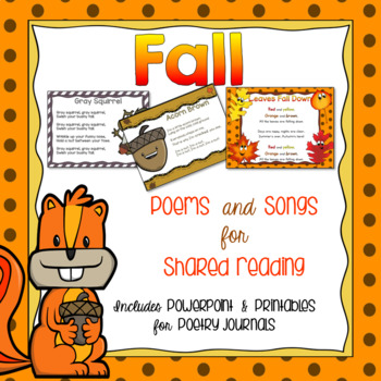 Fall Songs and Poems {Shared Reading}