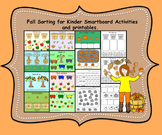Fall Sorting/Counting for Kinder Smartboard Activities and Printables