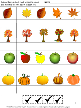 Fall Sorting Ordering Numbers Classifying Kindergarten Special Education Math