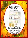 Fall Activities Sorting  Kindergarten Special Education Math Fine Motor Skills