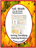 Fall Sorting Ordering Numbers Classifying Kindergarten Spe