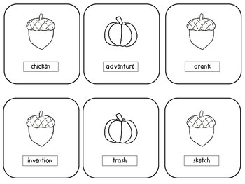 Fall Sounds Articulation Pack-sound discrimination, phonemic awareness