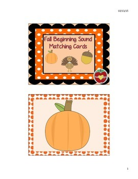 Fall Sounds Card Game