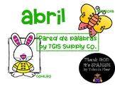 April Word Wall Spanish!!