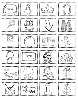 Fall Spanish Initial Sound Cut and Paste Activities:  Sonido Inicial