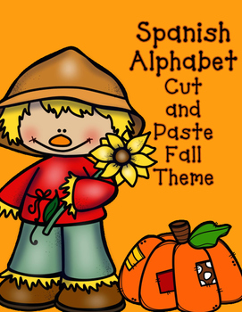 Fall Spanish Initial Sound Cut and Paste Activities:  Soni