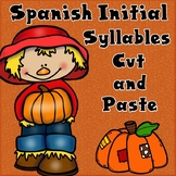 Fall Spanish Initial Syllables Cut and Paste Worksheets