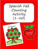 Fall Spanish Numbers Practice Activity/Craft (Apples)
