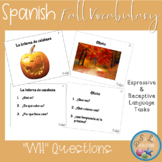 "Fall Spanish Vocabulary with ""WH"" and Yes/No Questions"