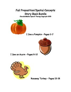 3 Fall Themed Spatial Concept Activity Book Bundle