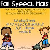 Fall Speech Articulation Mats