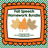 Fall Speech Homework Bundle
