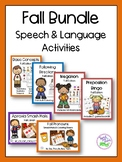 Fall Speech & Language Activities Bundle