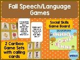 Fall Speech Language Games, Cariboo and Social Skills Game Board
