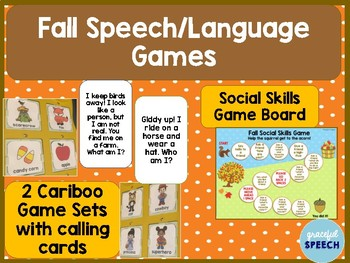 Fall Speech Language Games, Cariboo and Social Skills Game Board