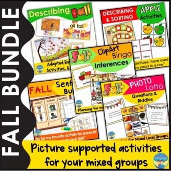 Fall Speech/Language & Special Education Activity Bundle