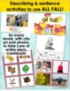 Fall Speech Language Picture Activities Bundle for Mixed Groups