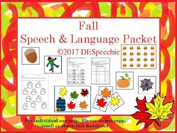 Fall Speech & Language Packet