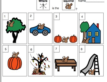 Fall Speech-Language Therapy Materials-Autism/Language Delays