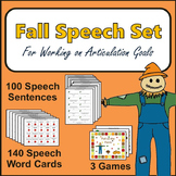 Fall Speech Therapy Set