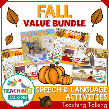 Fall Speech Therapy Activities Value Bundle