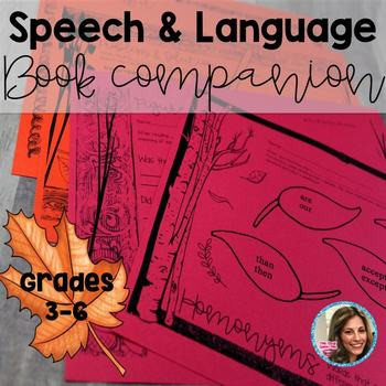 Fall Speech Therapy | Book Companion Speech and Language