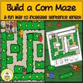 Fall Speech Therapy Build a Corn Maze to Expand Sentence Length