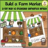 Fall Speech Therapy Build a Farm Market to Expand Sentence Length