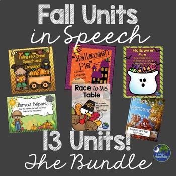 Fall Speech Therapy Bundle