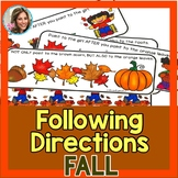 Fall Speech Therapy   Fall Speech and Language   Following Directions