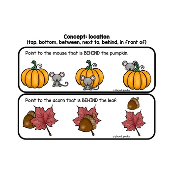 Fall Speech Therapy | Fall Speech and Language | Following Directions