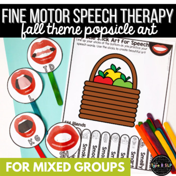 Fall Speech Therapy & Fine Motor Practice: Popsicle Stick Art