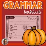 Fall Speech Therapy | Grammar Worksheets | Autumn Speech a