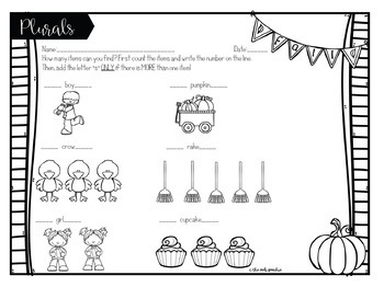 Fall Speech Therapy | Grammar Worksheets | Autumn Speech and Language