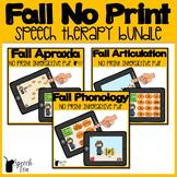 Fall Speech Therapy NO PRINT Bundle