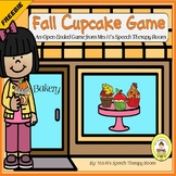 Fall Speech Therapy Open Ended Cupcake Game